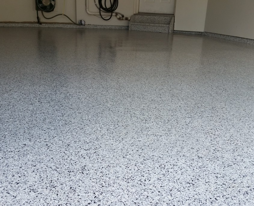 flooring garagecoatings epoxy best images garage roll brindle rock on with coatings flake floor pinterest